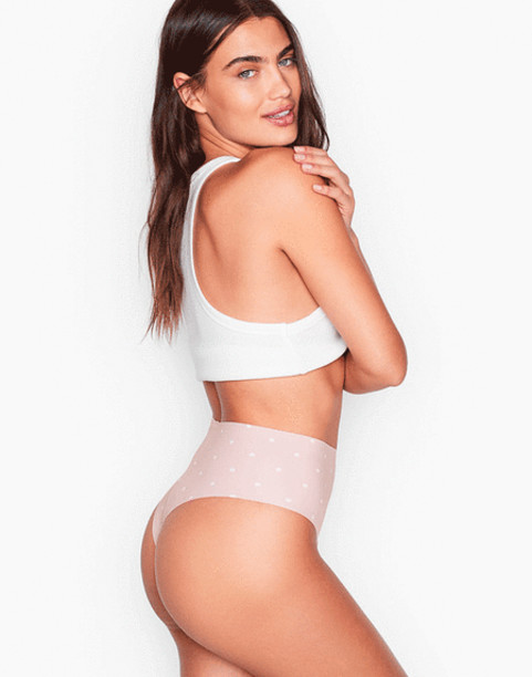 Бесшовные трусики Victoria's secret SEXY ILLUSIONS No Show High-waist Thong Panty