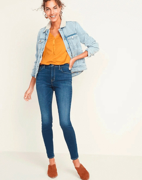 Джинсы на флисе Old Navy High-Waisted Built-In Warm Rockstar Super Skinny Jeans США