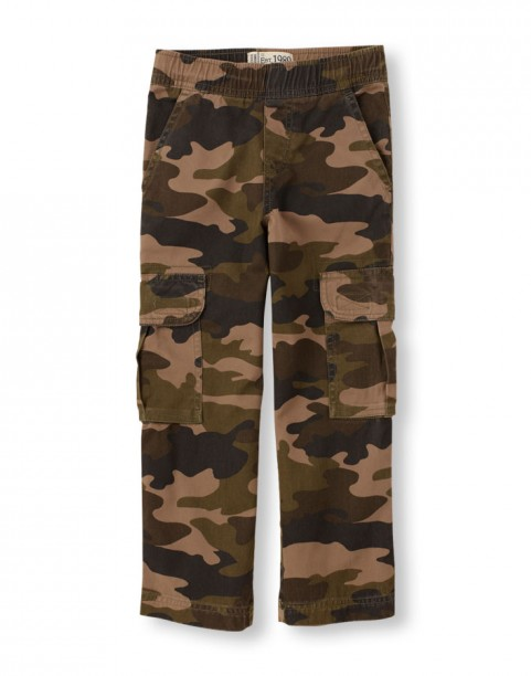 Хлопковые брюки карго Childrens place Pull-On Cargo Pants