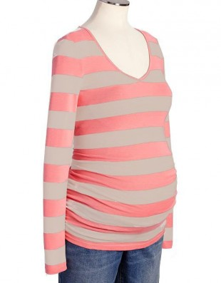 Туника для беременных Old Navy Maternity Side-Shirred V-Neck Tees