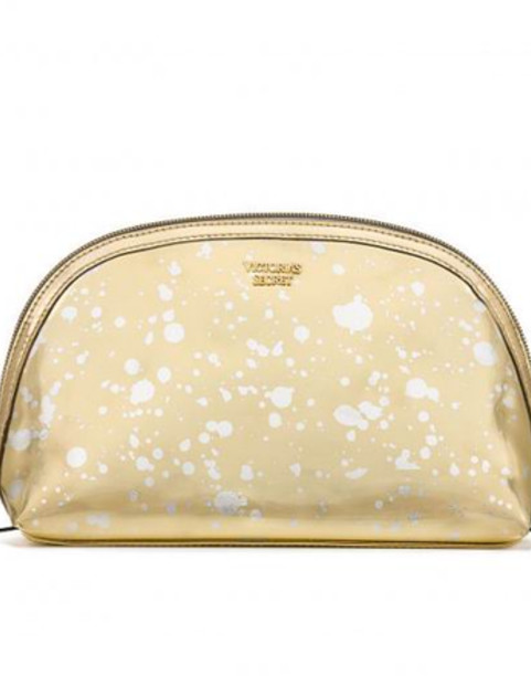 Косметичка Victoria's secret Gold Beauty Bag